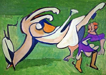 Ernst Ludwig Kirchner - Reiterin mit gestürztem Pferd