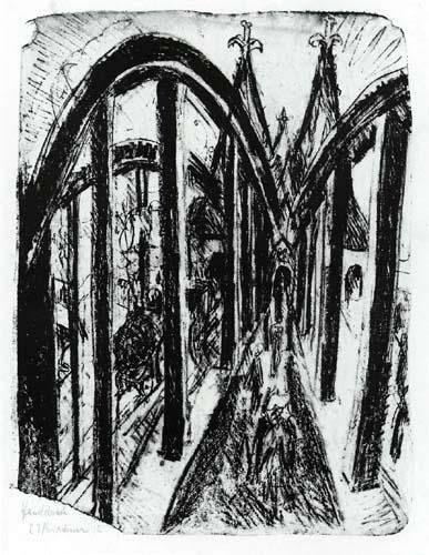 Ernst Ludwig Kirchner - Die Rheinbrücke bei Köln
