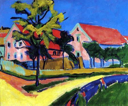 Ernst Ludwig Kirchner - Rote Häuser, Roter Januar II