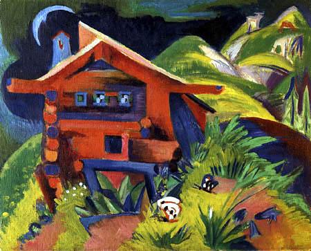 Ernst Ludwig Kirchner - The red alpine hut