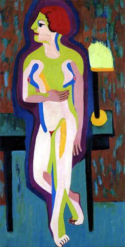Ernst Ludwig Kirchner - Rothaarige nackte Frau