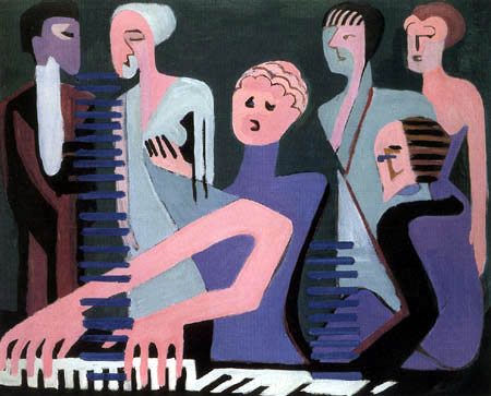 Ernst Ludwig Kirchner - Singer at the piano