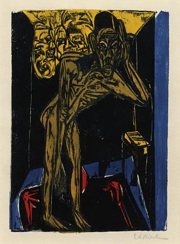 Ernst Ludwig Kirchner - Schlemihl in der Einsamkeit des Zimmers IV