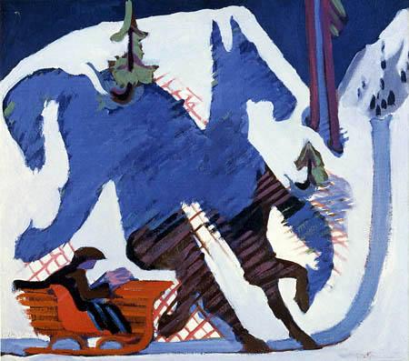 Ernst Ludwig Kirchner - El paseo en trineo