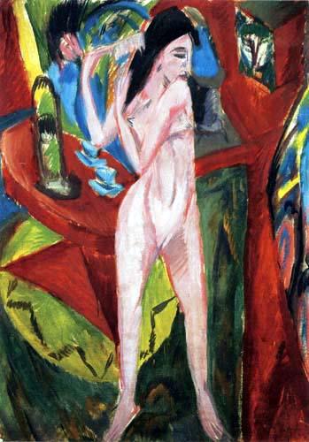 Ernst Ludwig Kirchner - Sich kämmender Akt