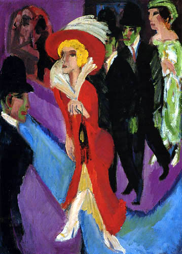 Ernst Ludwig Kirchner - Street with a red cocotte
