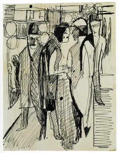 Ernst Ludwig Kirchner - Street scene