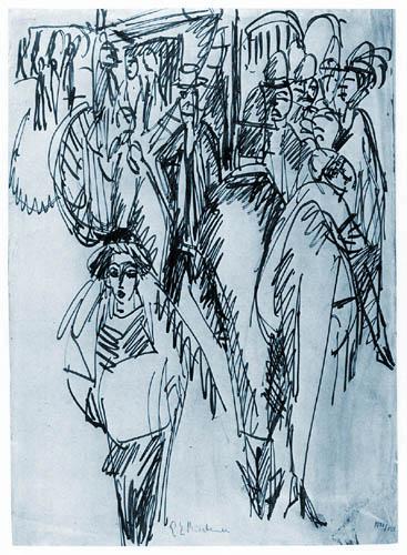 Ernst Ludwig Kirchner - Straßenszene, Der Omnibus