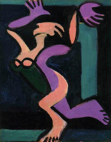 Ernst Ludwig Kirchner - Tanzender Frauenakt, Gret Palucca