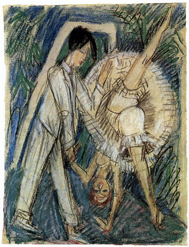Ernst Ludwig Kirchner - Two Dancers