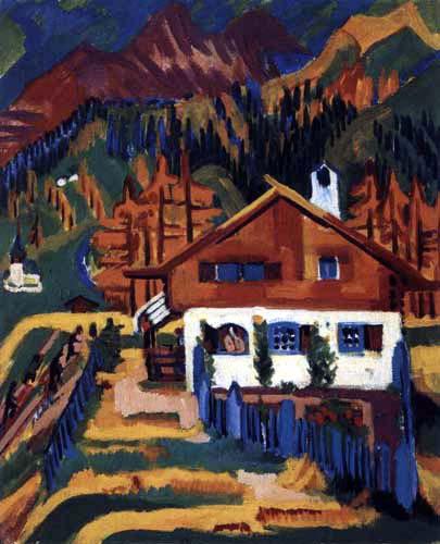 Ernst Ludwig Kirchner - Das Wildbodenhaus