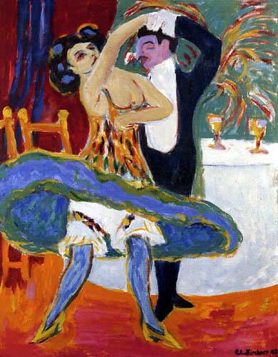 Ernst Ludwig Kirchner - Varieté, Englisches Tanzpaar