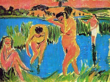 Ernst Ludwig Kirchner - Vier Badende