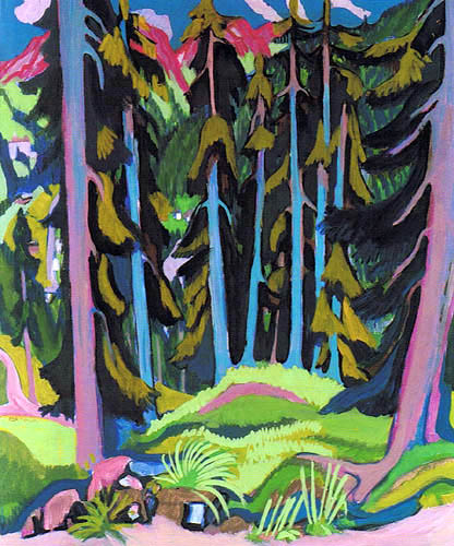 Ernst Ludwig Kirchner - Forest landscape with stream