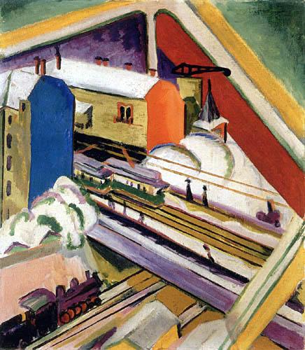 Ernst Ludwig Kirchner - Blick aus dem Atelierenster auf die Wannseebahn