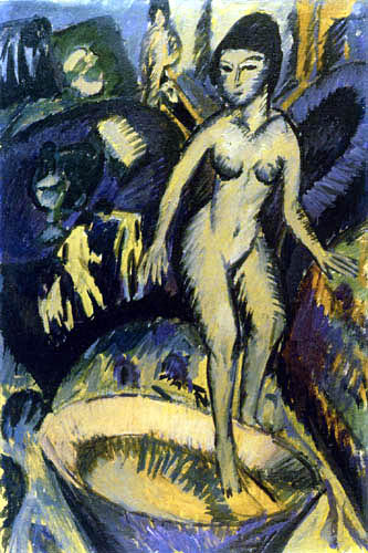 Ernst Ludwig Kirchner - Nu féminin dans la baignoire