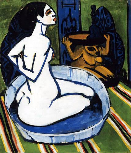 Ernst Ludwig Kirchner - Weiblicher Akt im Zuber