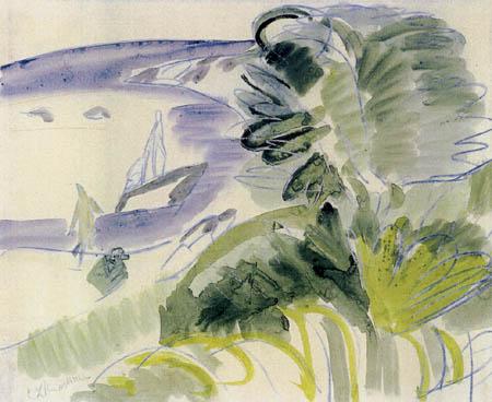Ernst Ludwig Kirchner - Weisser Strand, Fehmarn