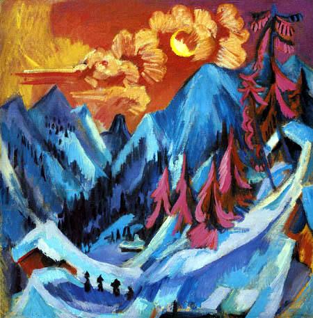 Ernst Ludwig Kirchner - Wintermondlandschaft