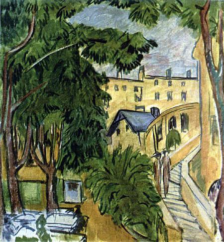 Ernst Ludwig Kirchner - Wirtsgarten in Steglitz