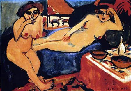 Ernst Ludwig Kirchner - Zwei Akte auf blauem Sofa