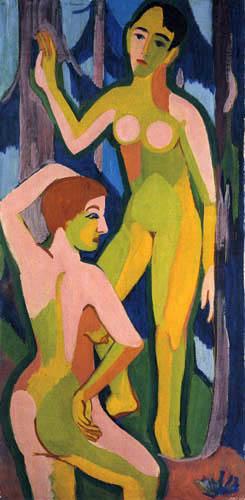 Ernst Ludwig Kirchner - Dos desnudas en el bosque II