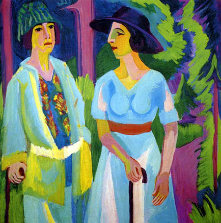Ernst Ludwig Kirchner - Two ladies in the forest