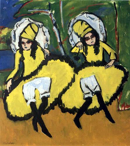Ernst Ludwig Kirchner - Zwei Tänzerinnen