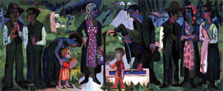 Ernst Ludwig Kirchner - Sunday, scene at the well