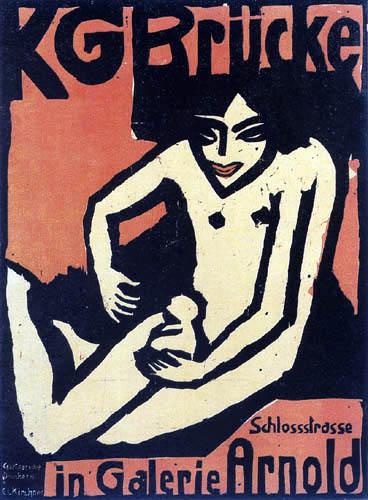 Ernst Ludwig Kirchner - Ausstellungsplakat der 'Brücke'