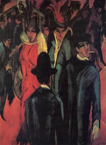 Ernst Ludwig Kirchner - Berliner Straßenszene