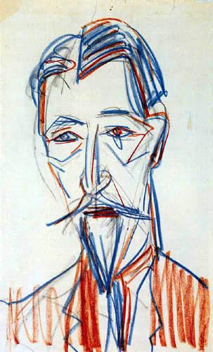 Ernst Ludwig Kirchner - Bildnis Botho Graef