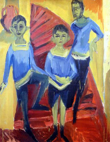 Ernst Ludwig Kirchner - Three boys in Blue