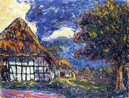 Ernst Ludwig Kirchner - Häuser auf Fehmarn