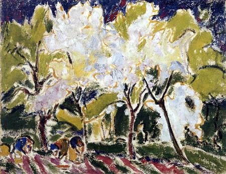 Ernst Ludwig Kirchner - Frühlingslandschaft