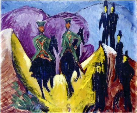 Ernst Ludwig Kirchner - Husarenritt
