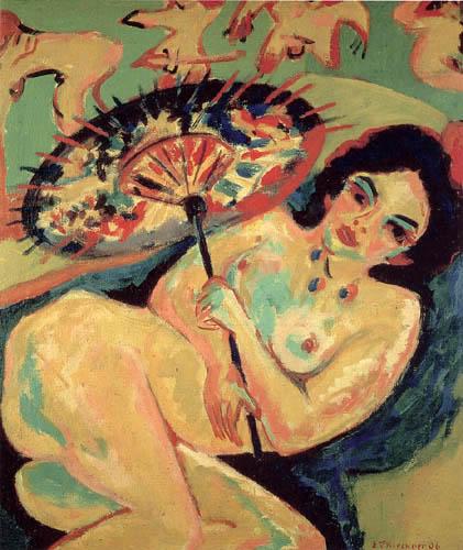 Ernst Ludwig Kirchner - Mädchen unter Japanschirm