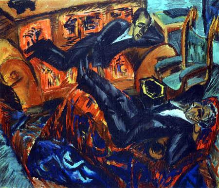 Ernst Ludwig Kirchner - Zwei Freunde im Gespräch