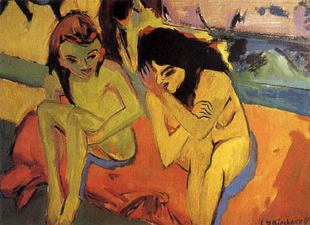Ernst Ludwig Kirchner - Two girls
