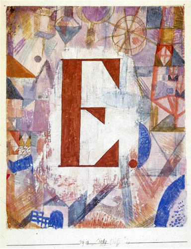 Paul Klee - Fragmentarisches Aquarell