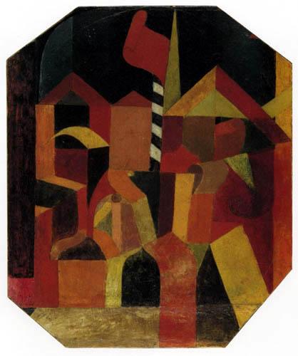 Paul Klee - Architectur mit der roten Fahne
