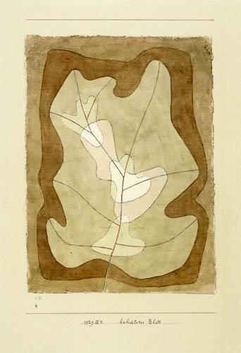 Paul Klee - Illuminated Leaf