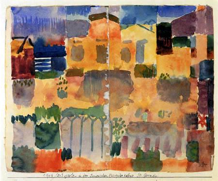 Paul Klee - Garten in der tunesischen Europäerkolonie St.Germain