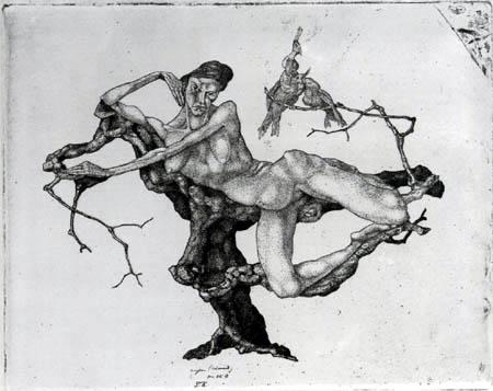 Paul Klee - Junge Frau träumend