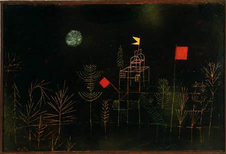 Paul Klee - Beflaggter Pavillon