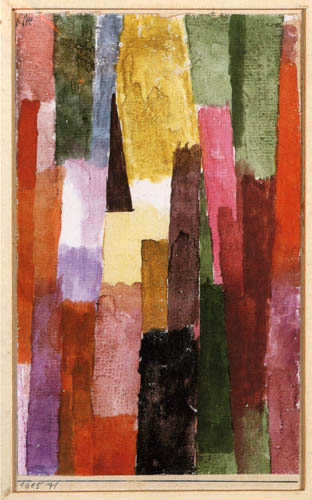 Paul Klee - Braunes, rechtwinkliges strebendes Dreieck