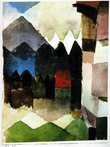 Paul Klee - Föhn im Marc'schen Garten