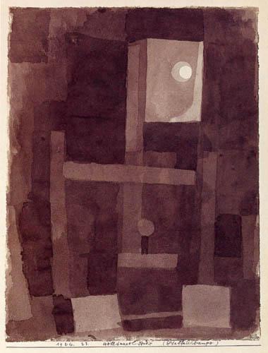 Paul Klee - Helldunkel-Studie, Staffeleilampe