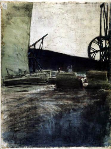 Paul Klee - Im Ostermundiger Steinbruch, zwei Krähne