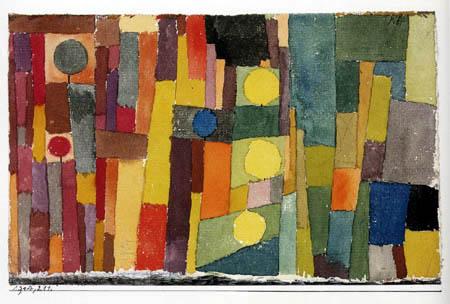 Paul Klee - im Stil von Kairouan, ins gemässigte übertragen